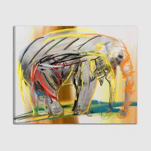Quadri dipinti a mano figurativi moderni elefanti quadro for Dipinti figurativi moderni