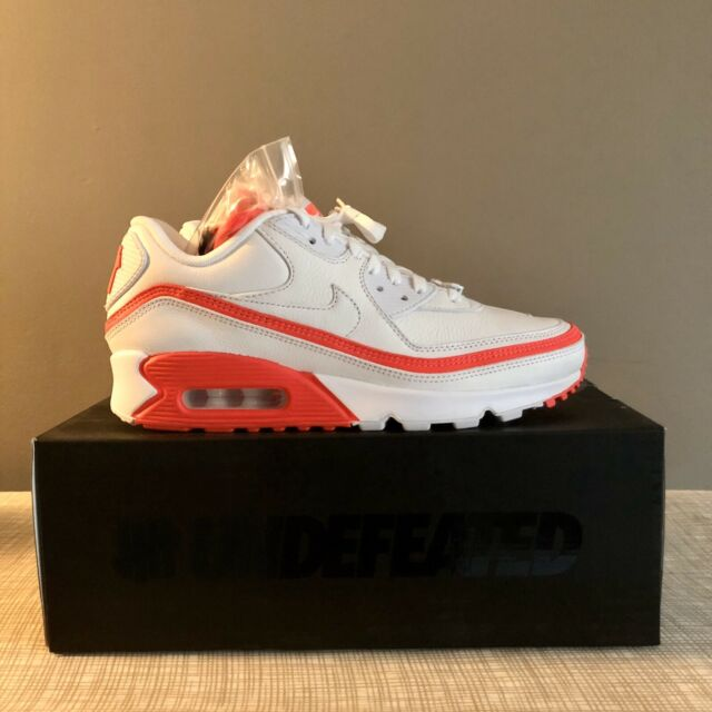 Men's Nike Air Max 90 x Undefeated WhiteSolar Red Size 8