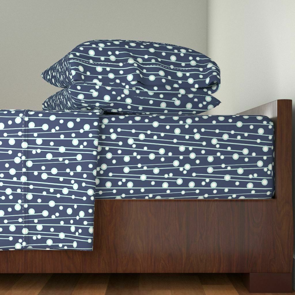 Geometric Geometric Berry Branch 100% Cotton Sateen Sheet Set by Roostery