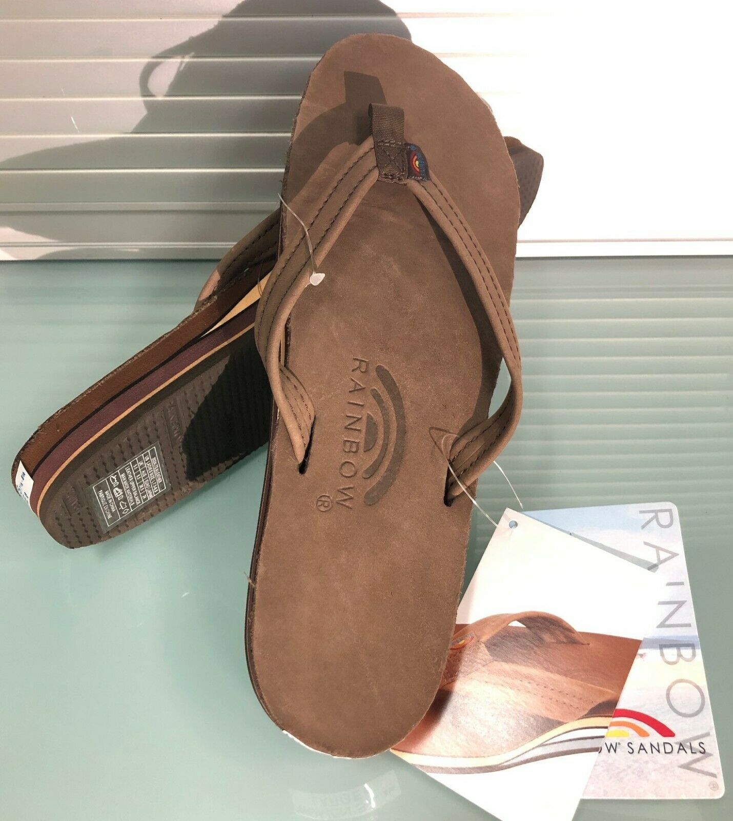 Rainbow Premier Leather Women's Sandal Double Layer Expresso X-Large 302 ALTSN