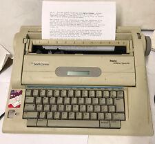 Smith Corona Na3hh Display Dictionary Electronic Typewriter Word Processor