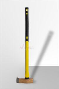 Spalthammer-Spaltaxt-Spaltbeil-Holzspalter-Beil-Axt-3000g-mit-Fiberglas-Griff
