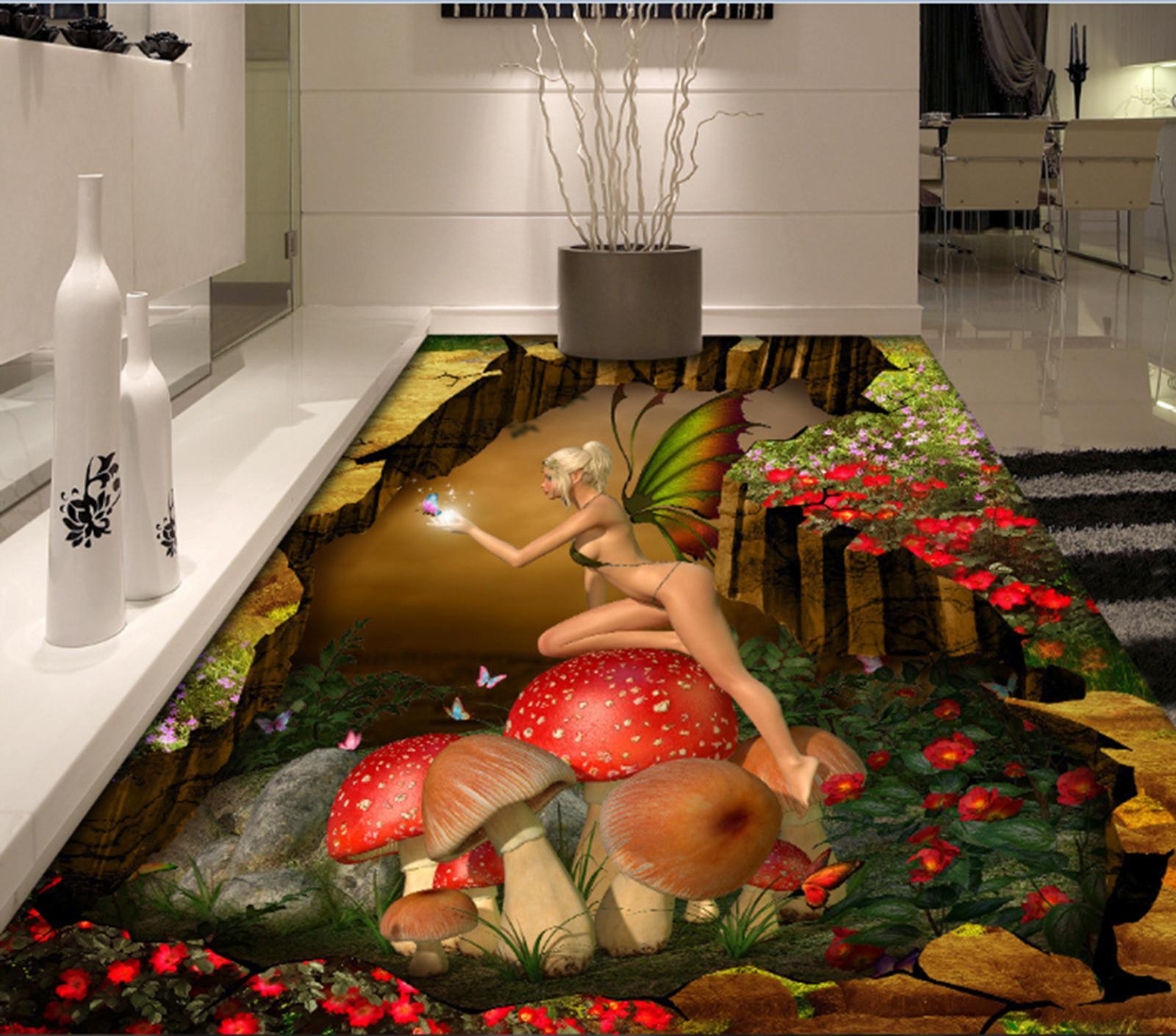 3D Schmetterling Mädchen Fototapeten Wandbild Fototapete Tapete Familie DE Lemon