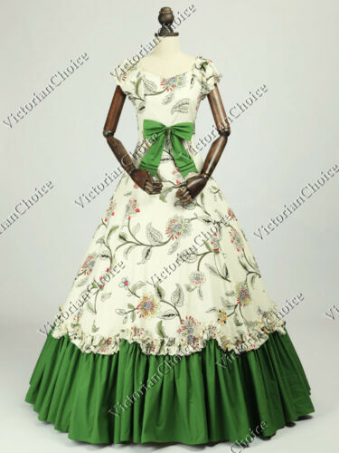 Victorian Dresses, Clothing: Patterns, Costumes, Custom Dresses    Victorian Belle Princess Fairtale Tea Party Vintage Dress Gown Reenactment N 273 $149.00 AT vintagedancer.com