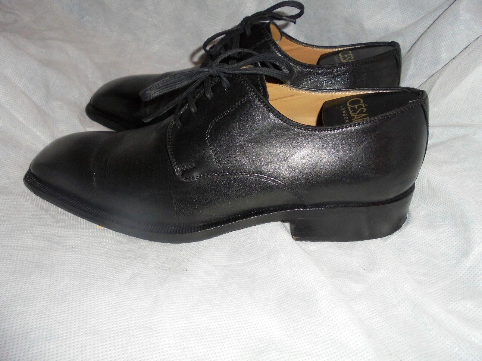 Comité por KARIM Hombre Negro Cuero Con Cordones Zapatos Talla Uk 7 EU 41 en muy buena condición
