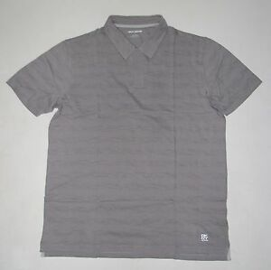 NWT Mens DKNY Short Sleeve No Buttons Polo Shirt Size M Medium Soft Grey Gray
