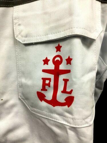 Reederei F Laeisz Dock Worker Mechanic Jumpsuit Coveralls Strap Fasten White