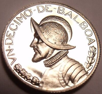Coins Panama 1/10th Balboa 1974 Rare Proof~only 18,000 Minted