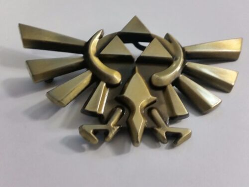 Legend of Zelda Game TRIFORCE Logo Metal BELT BUCKLE Bronze finish cosplay