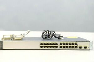 Cisco-WS-C3750V2-24PS-E-24-Port-10-100-PoE-Ethernet-Switch-W-POWER-CORD