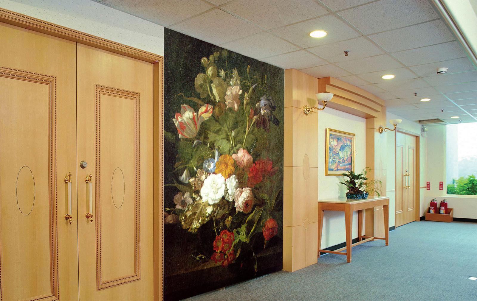 3D ColGoldt Flowers Vase 033 Wall Paper Wall Print Decal Wall AJ WALLPAPER CA