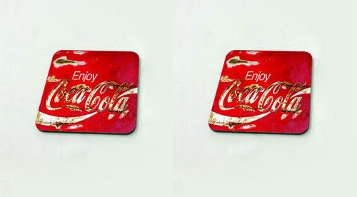 Coca Cola Alt Retro Rost Vintage Getränke Becher Untersetzer Tisch Kork Board