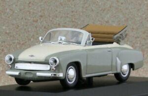 WARTBURG 311 Cabrio - 1958 - grey / white - Maxichamps 1:43