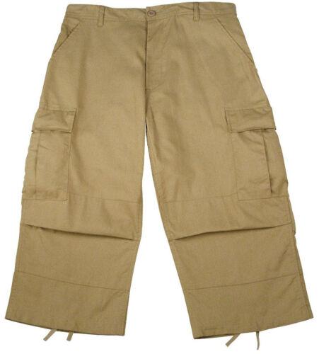 Mens Military Style BDU Pants Short Length 3//4 Pant 6 Pocket Trouser Rothco 8351