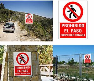 Cartel-PROHIBIDO-EL-PASO-Propiedad-Privada-En-glasspack-1-mm-Vinilo-corte