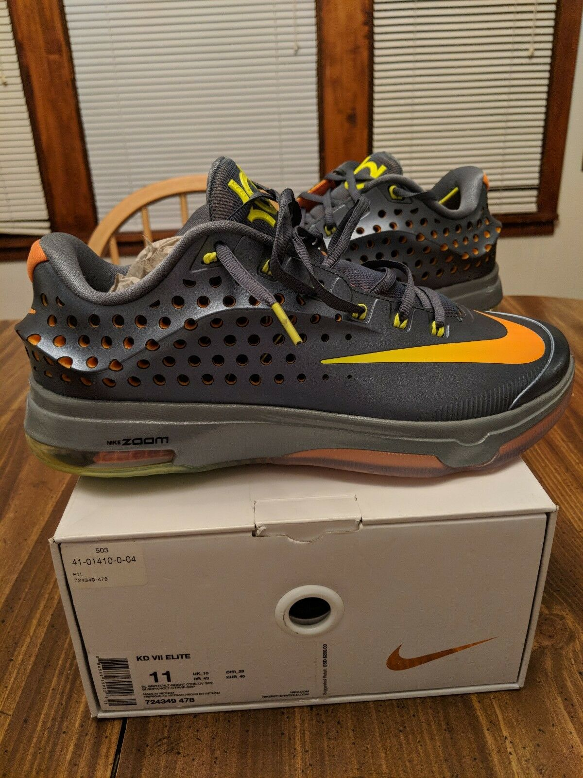 Nike scarpe kd vii 7 elite maschile di basket scarpe Nike taglia 11 cf3981