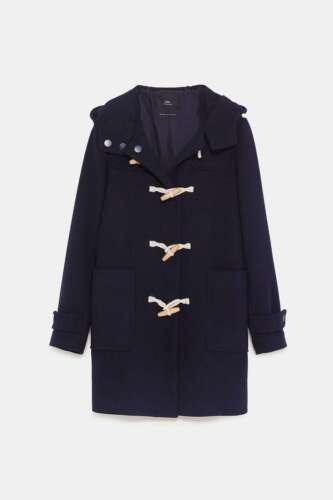 Size Toggle Zara Bnwt M Coat Marine Uk nzwxAw