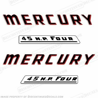 Reproduction Decals Mercury 1958 45HP Mark 58 Electric Outboard Decal Kit