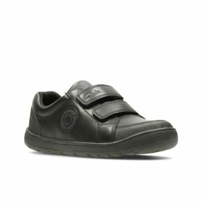 BNIB Clarks Boys Orbiter To Black Leather Lights School Shoes Size E//F//G//H