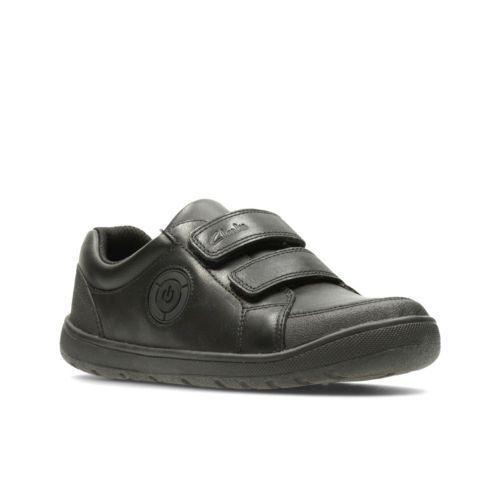 Boys Clarks Velcro Straps School Shoes