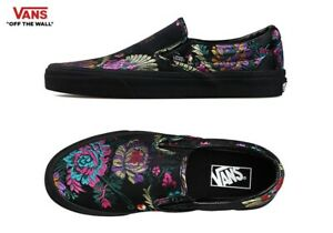 VANS-Festival-Satin-Classic-Slip-On-Black-Fashion-Sneakers-Shoes-Women-039-s