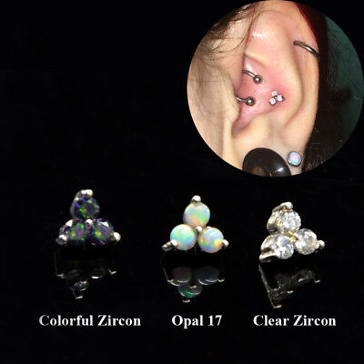 1x Cartilage Earring Tragus Piercing Labret Lip Stud Helix Conch