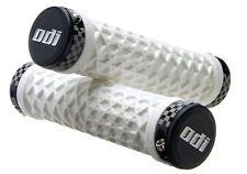 WHITE ODI VANS LOCK ON BONUS PACK CAP W/PLUGS BMX MTB CHECKERED GRIP BICYCLE