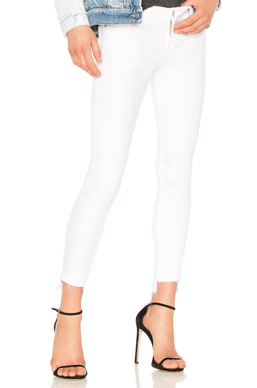 FRAME NWT  Le Skinny De Jeanne Step Hem Jeans in white (White) Sz 25