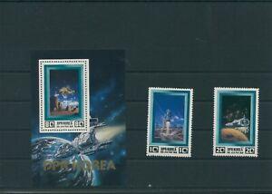 Korea-Mi-2255-2256-Block-119-Mint-MNH-Outer-Space-Aerospace-Space