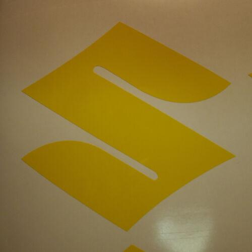"#201 2 2/""  Suzuki Logo Motorcycle Decals Wheel Helmet Stickers GLOSS YELLOW"