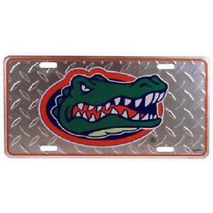 Florida-Gators-Diamond-Pattern-License-Plate-NEW-Car-Tag-Frame-Metal-Auto-NCAA