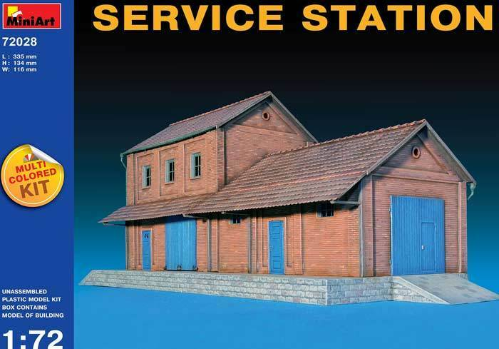Miniart - Diorama Taller 2 Pisos Service Estación 1 72 Nuevo