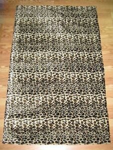 Image Is Loading Faux Fur Cheetah Print Accent Rug 5 039