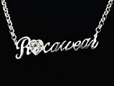 JAY-Z Rocawear Ladies Girls Heart Shape Diamante Necklace Roca & Wear Jewelry