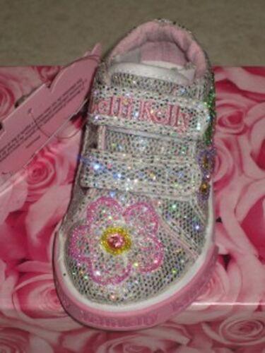 Lelli Kelly Silver LK8382 Glitter B Vel Shoes VF1365 Sneakers Tenni Pink Flower