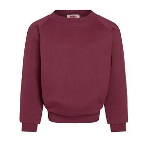 Plain Jade Sweatshirt Childrens Boys Girls Sizes  Poly//Cotton Made in UK