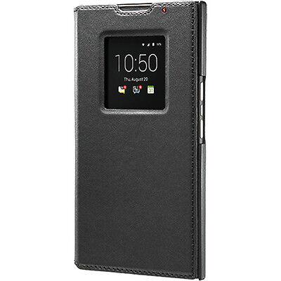 GENUINE Blackberry Priv Leather Smart Flip Case Cover ACC-62173-001 - Black