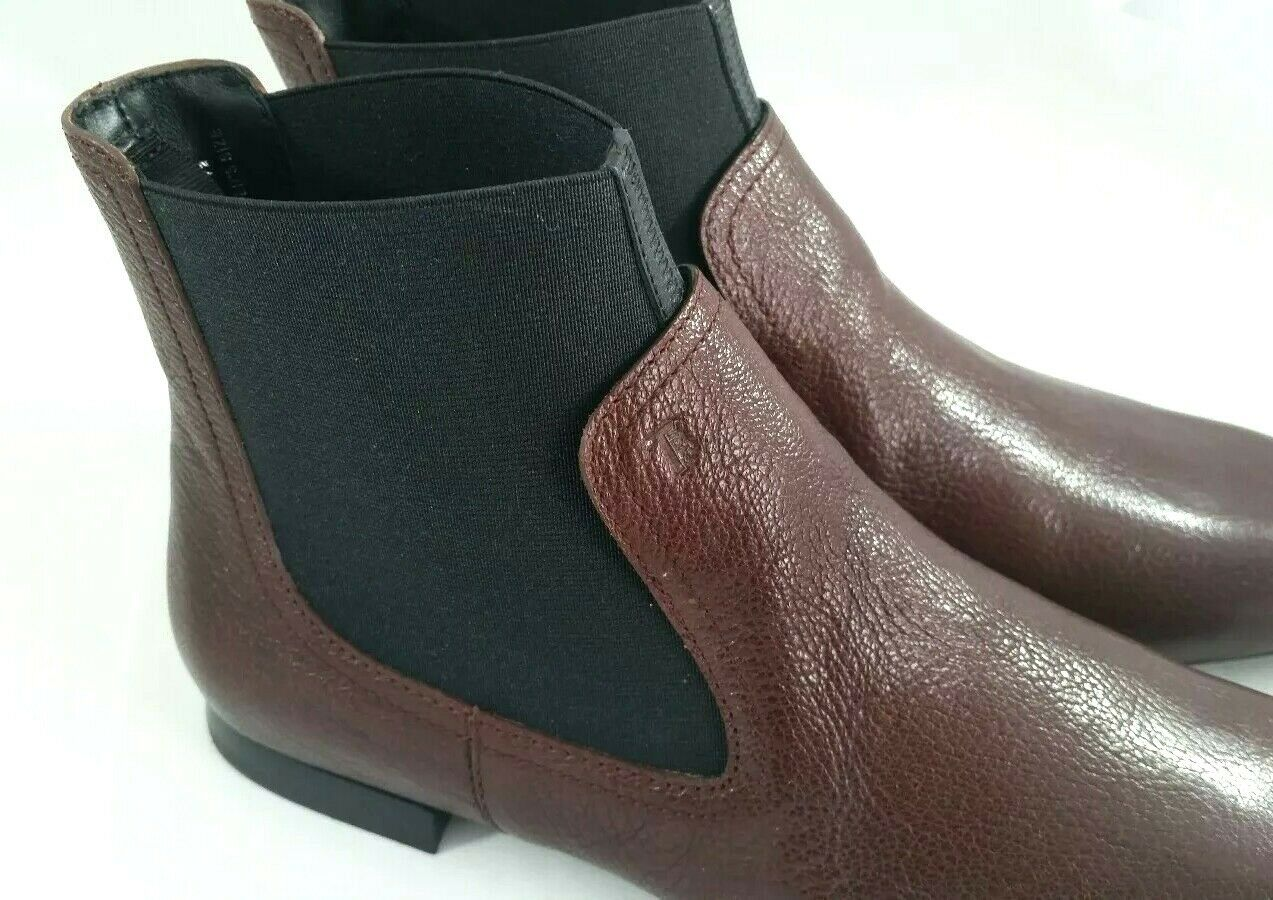 NIB Tods Tods Tods Womens Maroon Leather Ankle Boots Sz 36.5 US 6.5 made in   795 d1c689