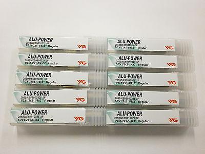 "YG1 3//8/"" ALU-POWER Carbide End Mills for Aluminum YG-1 .375 3FL 28584 10pc"