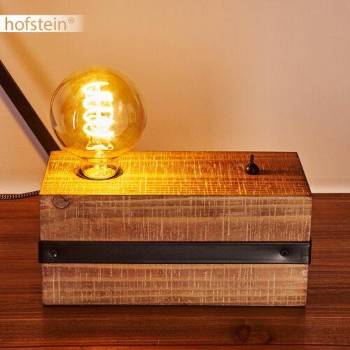 Vintage Lese Nacht Tisch Lampen schwarz//Holz Wohn Schlaf Zimmer Raum Beleuchtung