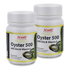 Hi Well Premium Oyster 500 With Zicn & Vitamin E 60vege Capsules * 2pk