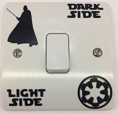 Dark Side Light Side Aufkleber Kinderzimmer Wandtattoo