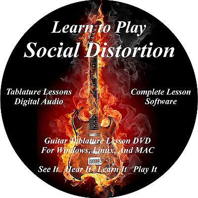 Social Distortion Guitar TABS Lesson CD 66 Songs + Backing Track + BONUS!