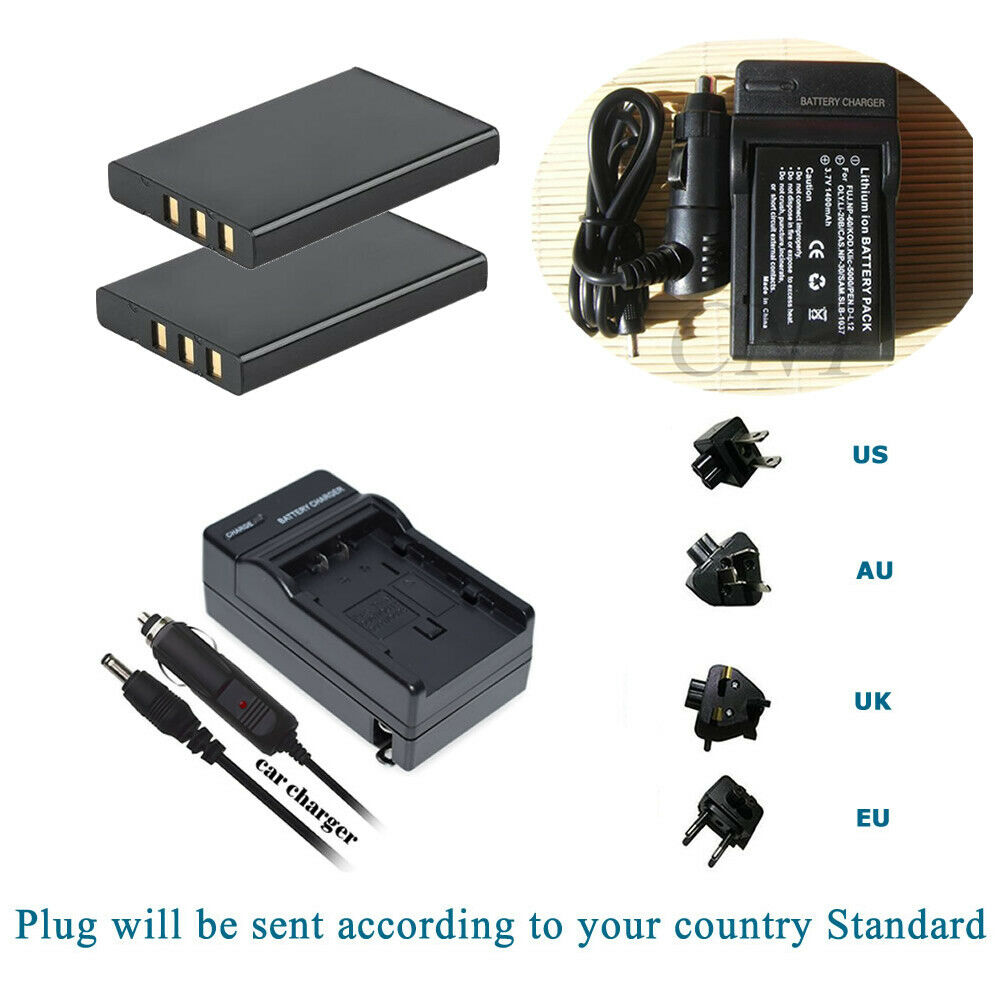 2 Battery +Charger for 02491-0006-10 084-04210L-001 084-07042-001 084-07042L-004
