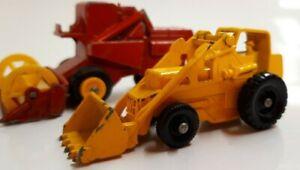 Lesney-Matchbox-De-Coleccion-Lote-De-Trabajo-Tractor-amp-Cosechadora-hidraulico-Weatherill
