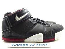 Nike Zoom LeBron II 2 Black White Metallic Silver Red 2004 sz 14