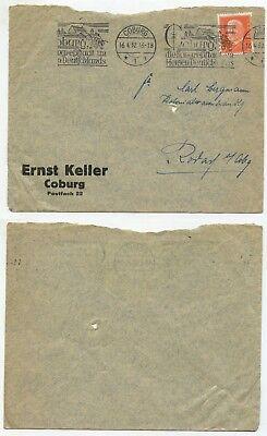 05334 - Stempel: Coburg, Die Kongreßstadt Im Herzen Deutschlands - 16.4.1932 Moderate Kosten