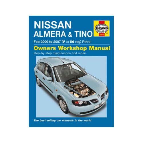 Nissan Almera Tino Haynes Manual 2000-07 1.5 1.8 Petrol Workshop Manual