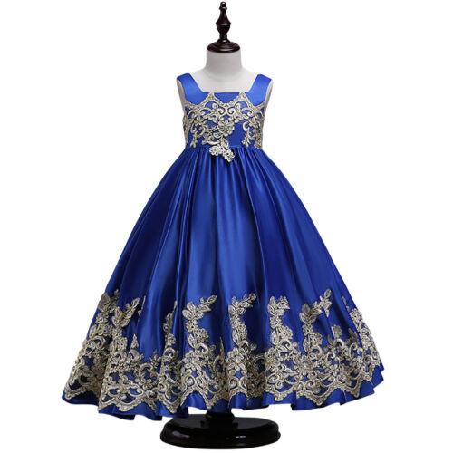 Vintage Butterfly Bow Flower Girl Dress For Kid Wedding Bridesmaid Graduation