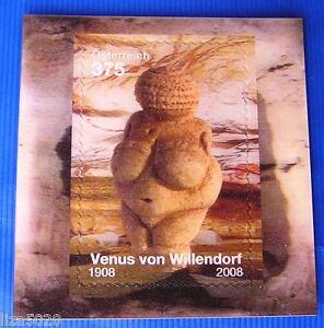 Venus-von-Willendorf-Lentikularmarke-Michel-Block-77-Osterr-SM-Block-2008